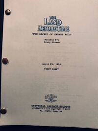 SCRIPT Land Before Time VI The Secret of Saurus Rock, The (1998)