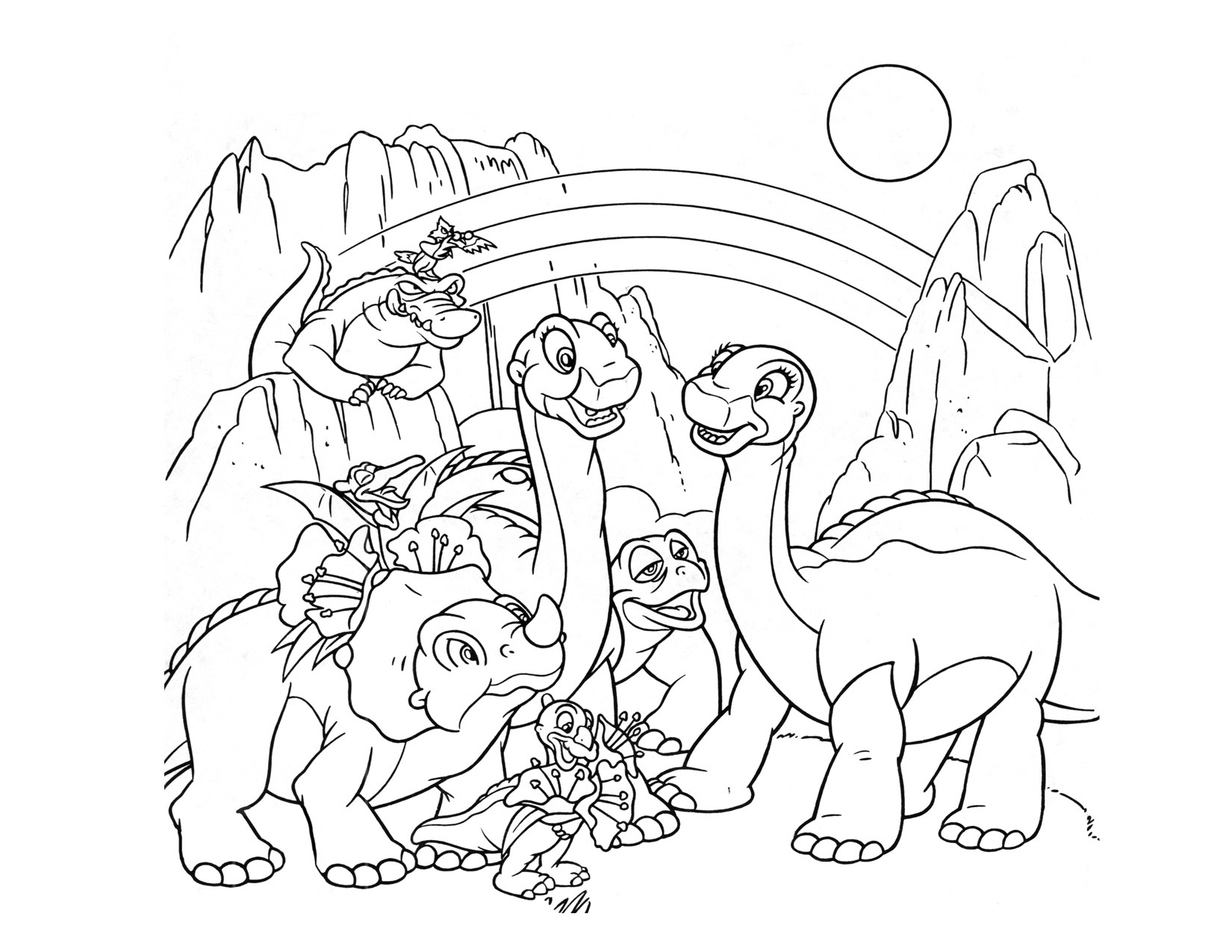 Lovely Land Before Time Characters Coloring Pages Ucoloring