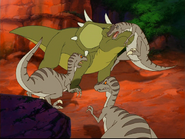 Styrac headbutts a raptor