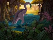 Camptosaurus Eating