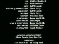 Velociraptor in credits