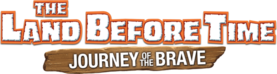 The Land Before Time Journey of the Brave Logo