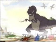 Sharptooth in the Alpha-Bits Commercial