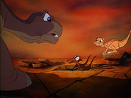 Littlefoot with blue eyes