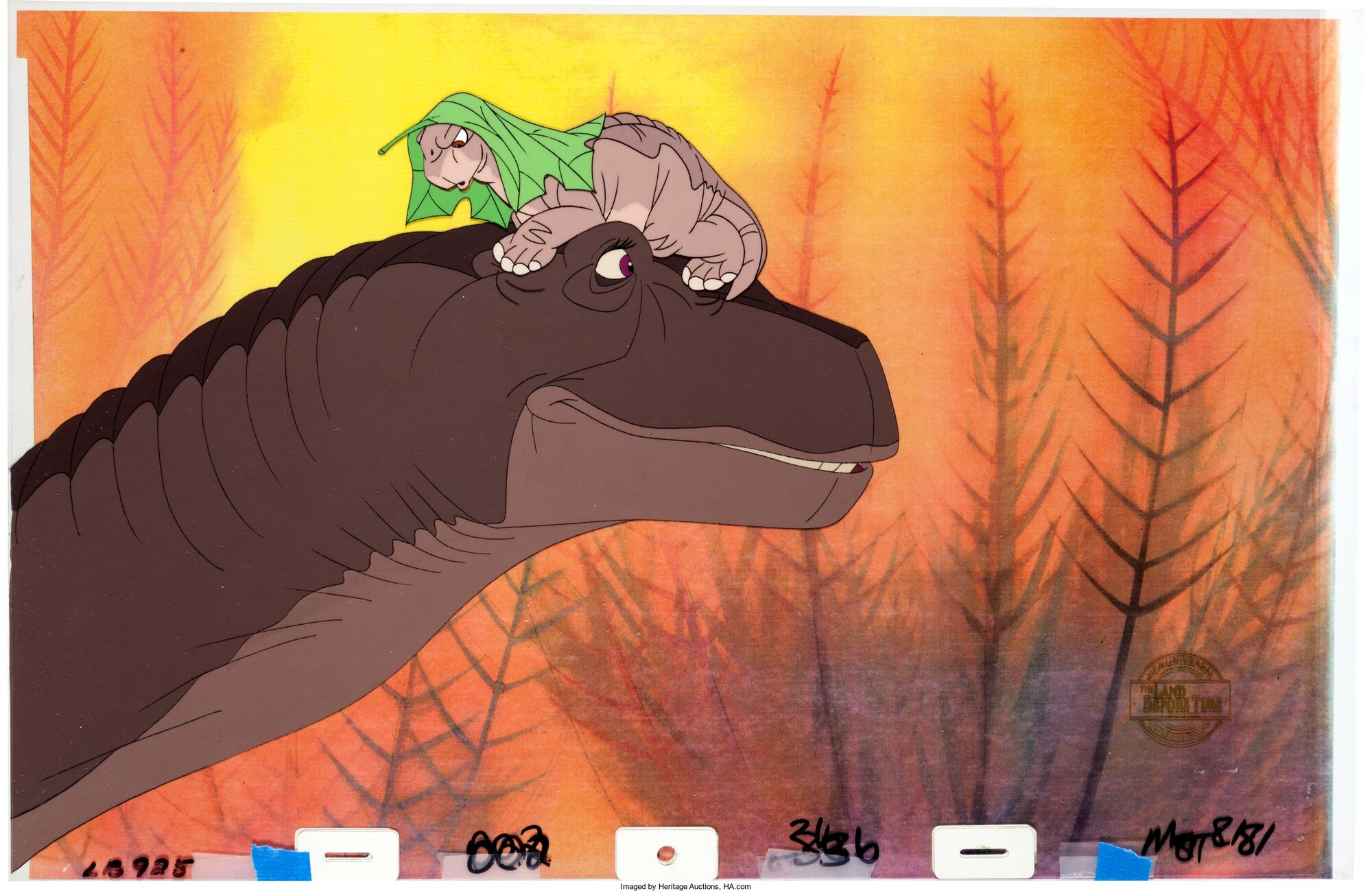 image the land before time littlefoot and mother production cel