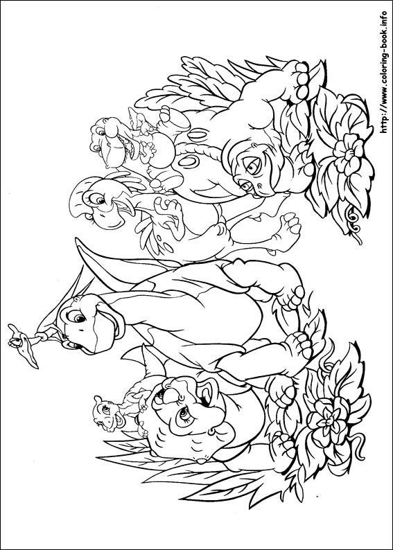 gang coloring pagejpg - Land Before Time Free Coloring Pages