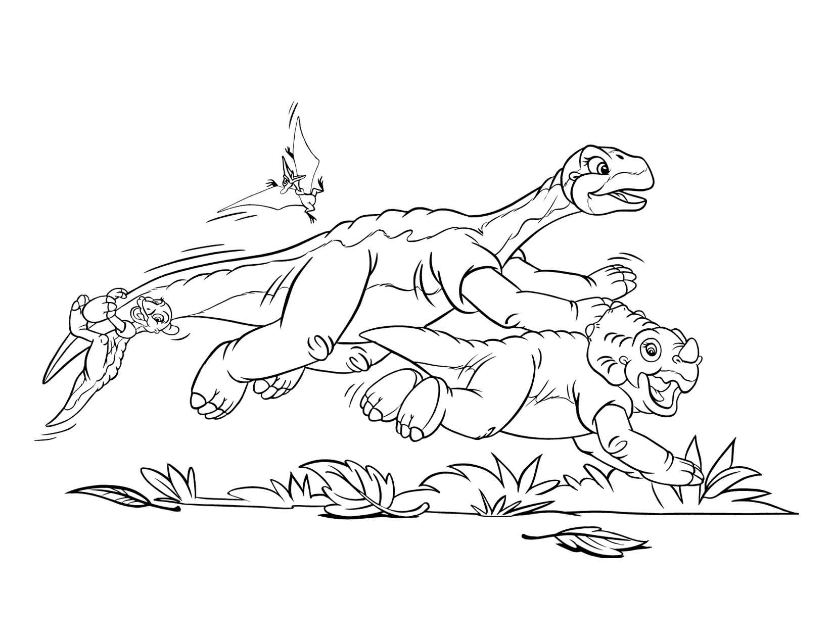 Image - Coloring page 1 movie 5.png | Land Before Time Wiki | FANDOM ...