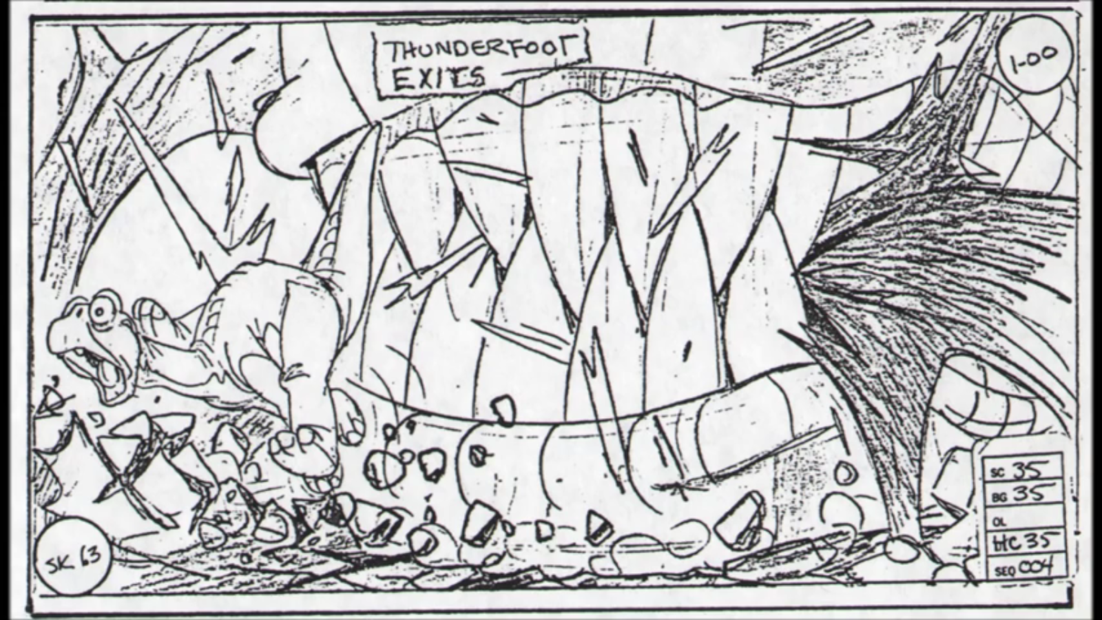 Image - Sharptooth Storyboard 19.png | Land Before Time Wiki ...