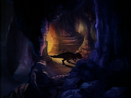 Sharptooth snooping around in cave