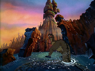 Sharptooth standing in pond