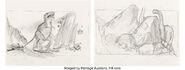 The Land Before Time Dinosaurs Storyboard Original Art Group of 5 Amblin Lucasfilm Don Bluth, 1988 1