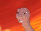 Littlefoot tells Spike to grab his tail