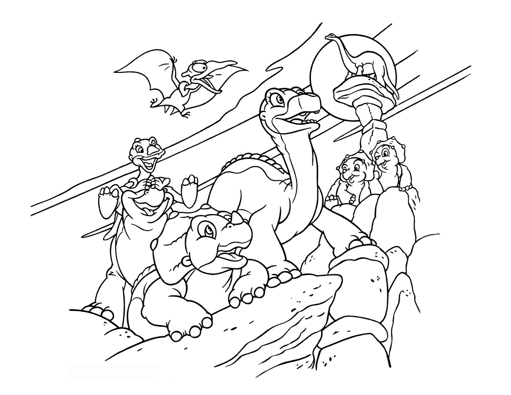 Image - Coloring Page 1 movie 6.png | Land Before Time Wiki | FANDOM ...