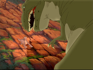 Thrasher about to eat Littlefoot