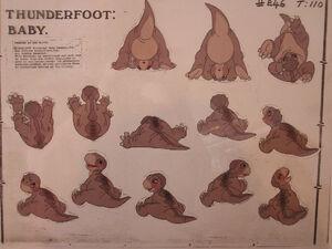 Littlefoot baby character sheet