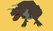 Horned Sharptooth drawing