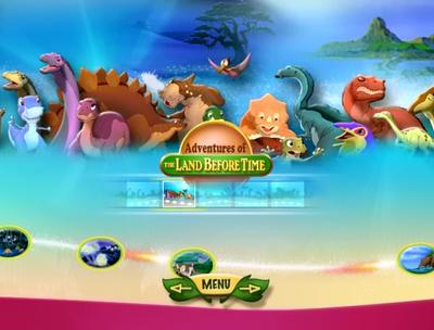 Teal camptosaur in first movie bonus features