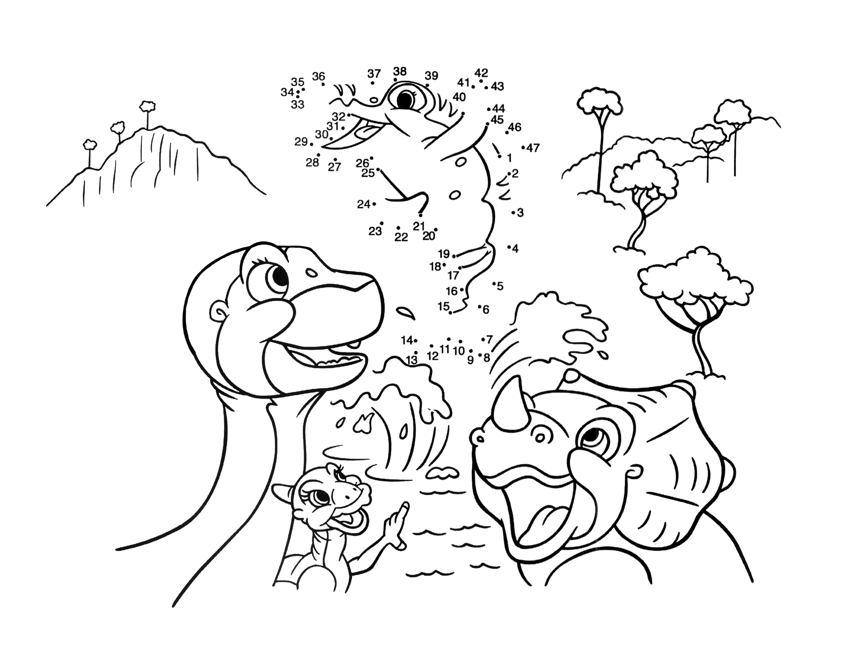 Image Coloring page 3 movie 9png Land Before Time Wiki