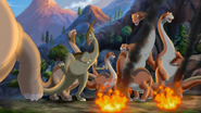 Sauropods in eruption