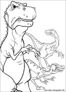 Red Claw, Screech, and Thud coloring page