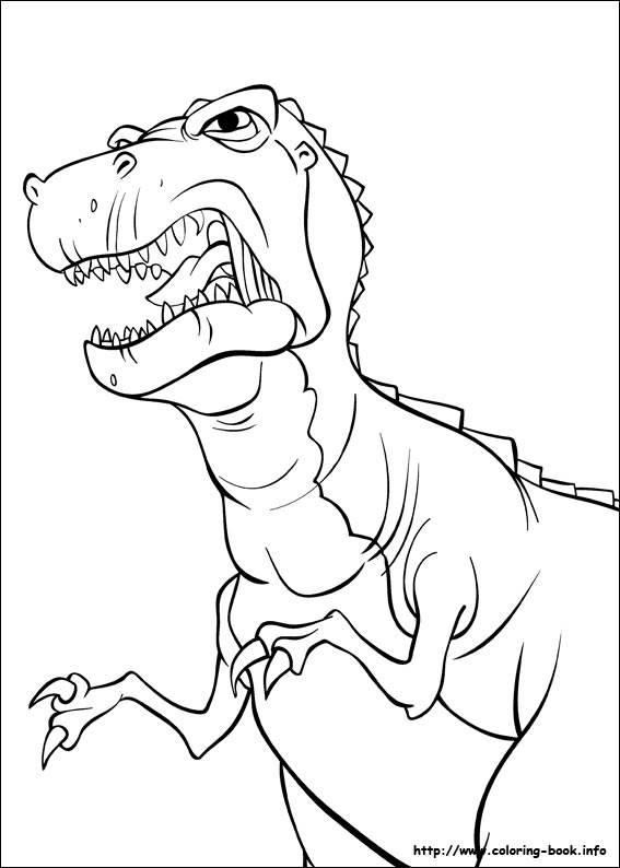 Image Red Claw coloring pagejpg Land Before Time Wiki