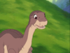 39-Littlefoot gives Petrie information about the flying rock he saw