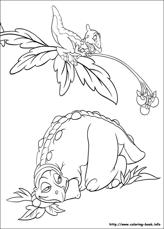 Image - Ducky and Spike coloring page.jpg | Land Before Time Wiki ...