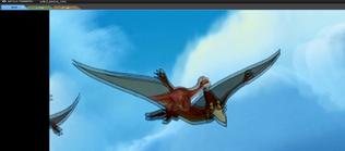 Littlefoot flying