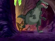 Yellow Tyrannosaurus in LBT XIII running