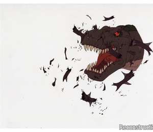 Sharptooth Jumpscare (Original deleted scene animation cel)