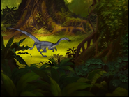 Coelophysis in foliage
