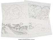Land Before Time Storyboard Sketches Group of 13 Don Bluth, 1988 2