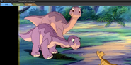 Ali is afraid of Littlefoot's friends