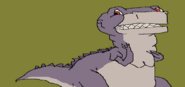 Smiling Sharptooth Chomper drawing