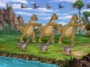 Maiasaura and Thescelosaurus dancing