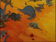Brachiosaurus with a black line