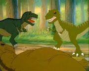 T-rex vs. Giganotosaurus