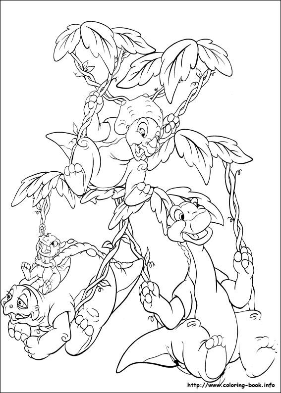 lbt coloring page 2jpg - Land Before Time Free Coloring Pages