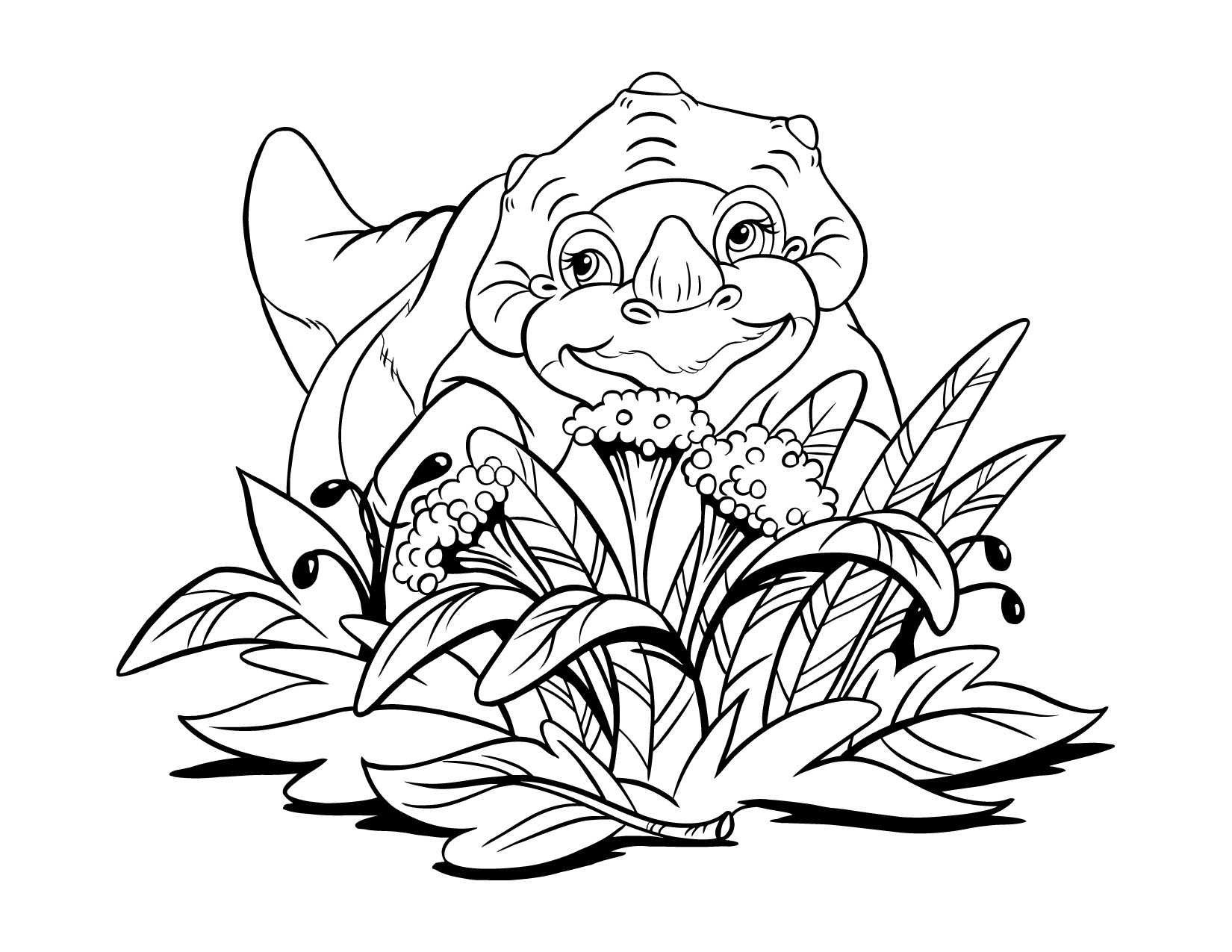 Free Dinosaur Coloring Pages For Kids 396