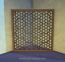 Hexagonal-grate-brass