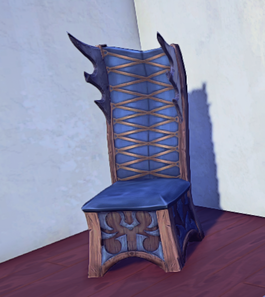 Ornate Wooden Chair prop placed
