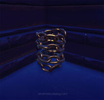 Coiled-chain-brass