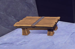 Coffee Table prop placed
