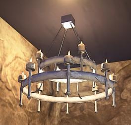 Landmark Iron Chandelier prop placed