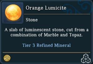 Orange Lumicite