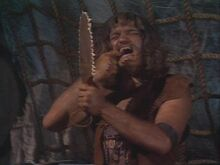 50~Season 3 - Richard Kiel plays Malak in two episodes and is simply horrible - its not clear why the Sleestak fear him