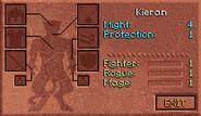 Kieran Character Screen