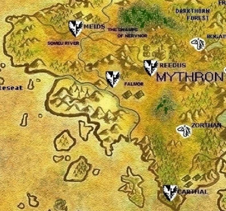 Mythron map