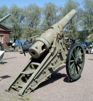 152mm m1877 190 pood gun 2
