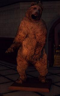 The bear inside Monroe's mansion